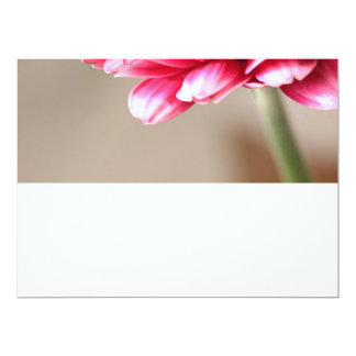 Beautiful pink gerbera on beige 17 cm x 22 cm invitation card