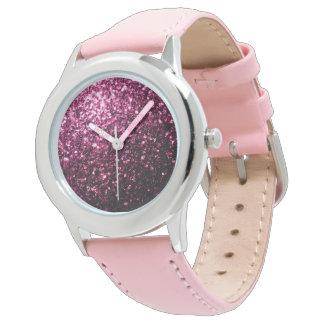 Beautiful Pink glitter sparkles Watch