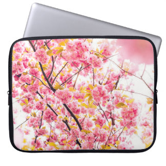Beautiful Pink Japanese Cherry Blossom Sakura Laptop Computer Sleeve