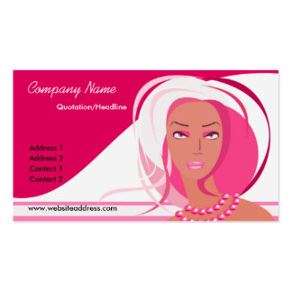 Beautiful Pink Lady Business Cards