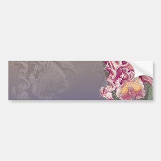 beautiful pink orchid on deep blue bumper sticker