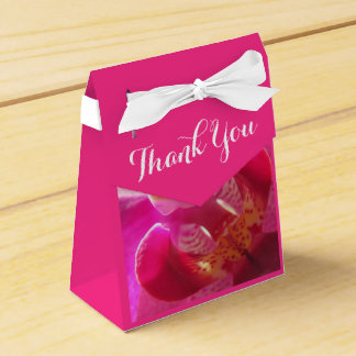 Beautiful Pink Orchid Thank you Party Favour Boxes