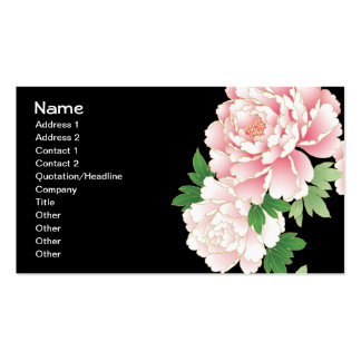Beautiful Pink Peony Vintage Floral Business Card Templates
