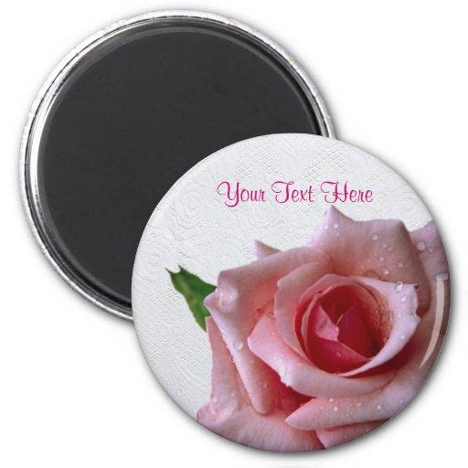 Beautiful Pink Rose Bud Design #2 Refrigerator Magnet
