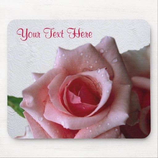 Beautiful Pink Rose Bud Design Mouse Pad