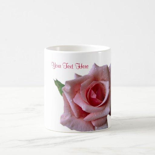 Beautiful Pink Rose Bud Design Coffee Mug