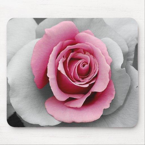 Beautiful pink rose petals print mouse pads