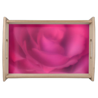 Beautiful Pink Rose Serving Tray
