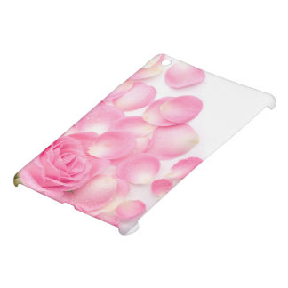 Beautiful Pink Rose with Scattered Petals iPad Mini Covers