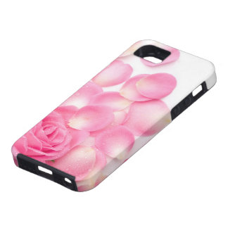 Beautiful Pink Rose with Scattered Petals Tough iPhone 5 Case