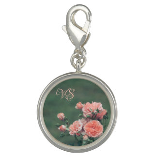 Beautiful pink roses. Add your monogram.