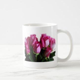 beautiful pink roses basic white mug