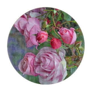 Beautiful pink roses cutting board