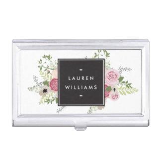 Beautiful Pink Roses Modern Elegance Card Case