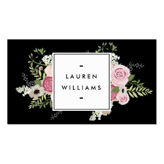 Beautiful Pink Roses Modern Elegance II Double-Sided Standard Business Cards (Pack Of 100)