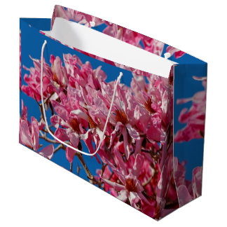 Beautiful Pink Saucer Magnolia Blossoms Large Gift Bag