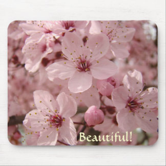 Beautiful Pink Spring Tree Blossoms mouse pads
