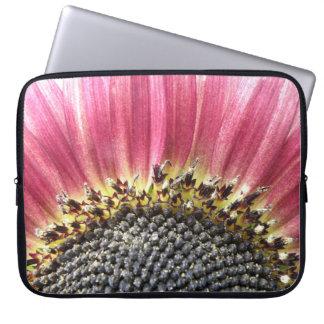 Beautiful Pink Sunflower Laptop Bag