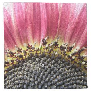 Beautiful Pink Sunflower Napkin