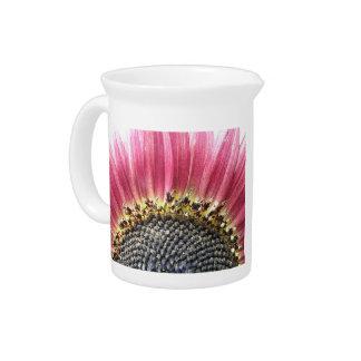 Beautiful Pink Sunflower Pitcher