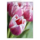 Beautiful Pink Tulip Thank You Card