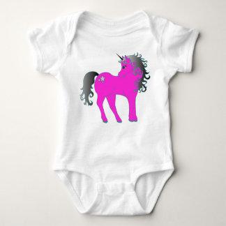 Beautiful Pink Unicorn Baby Bodysuit