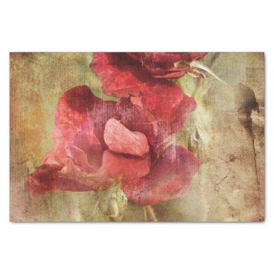 Beautiful Pink Vintage Floral Tissue Paper