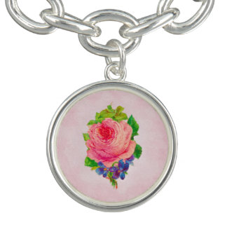 Beautiful Pink Vintage Rose Pretty Violet Sprig