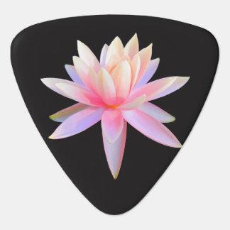 Beautiful Pink White Lotus Flower Pattern Plectrum