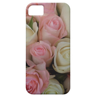 Beautiful Pink White Roses Flower Bouquet Cover For iPhone 5/5S