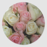 Beautiful Pink White Roses Flower Bouquet Sticker