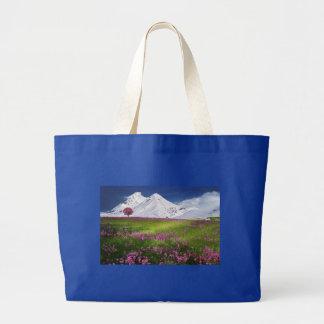 Beautiful Pink Wildflowers Jumbo Tote