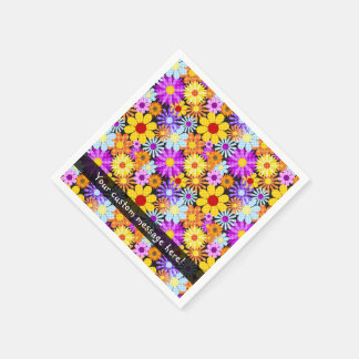 Beautiful Plaid Flower Collectiion Pattern Disposable Napkins