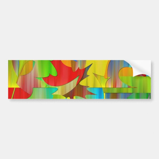 beautiful plant colours bumper sticker