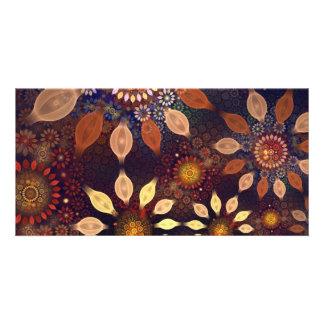 BEAUTIFUL  PLASTIC FLOWERS PHOTO CARD TEMPLATE