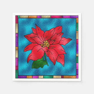 Beautiful Poinsetta Paper Napkin