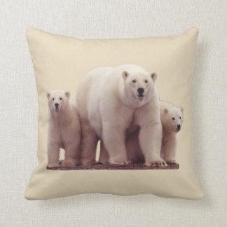 Beautiful Polar Bears Arctic Wildlife Throw Pillow