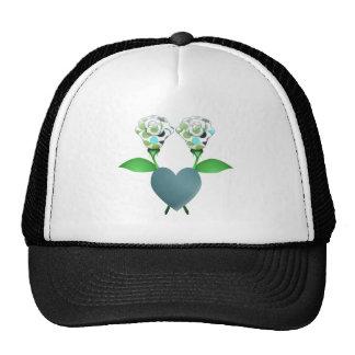 Beautiful Polka Dot Roses Hat