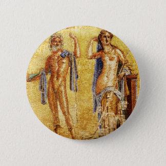 BEAUTIFUL Pompeii Mosaic 6 Cm Round Badge