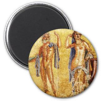 BEAUTIFUL Pompeii Mosaic 6 Cm Round Magnet
