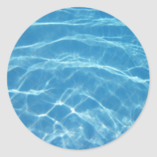 Beautiful Pool Water Classic Round Sticker