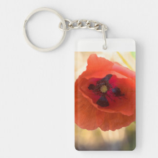 Beautiful poppy key ring