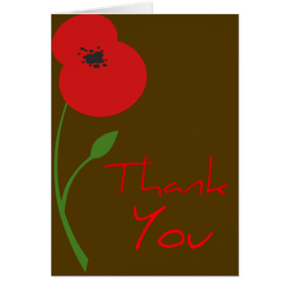 Beautiful Poppy Thank you Cards