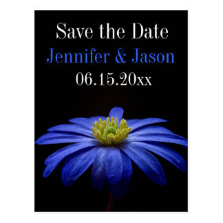 Beautiful Pretty Blue Flower Save Date Postcards