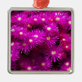 Beautiful Pretty Purple Flowers Custom Gifts Silver-Colored Square Decoration