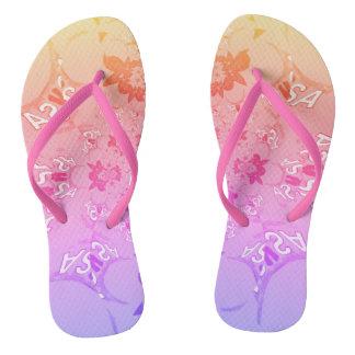 Beautiful Pretty Uniquely Summer pattern design Flip Flops