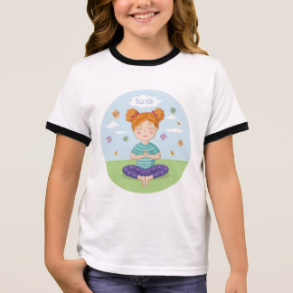 Beautiful print for small yoga lovers ringer T-Shirt
