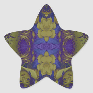 Beautiful Psychedelic Vintage Woman Star Sticker