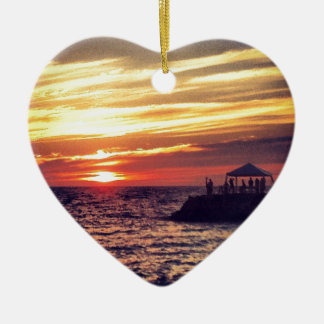 Beautiful Puerto Vallarta Sunset Christmas Ornament