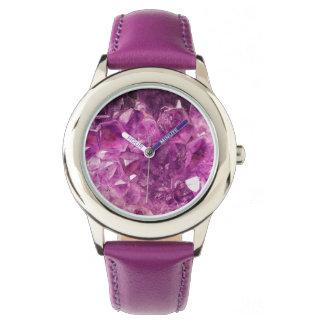 Beautiful purple Amethyst Wristwatch